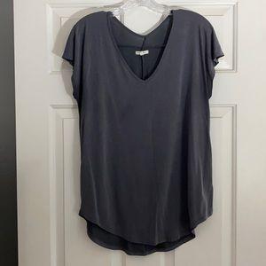 Charcoal grey blouse